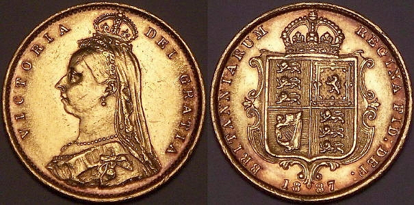 1887 half shield back Sovereign from www.lainson.eu
