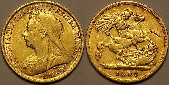 1899 half shield back Sovereign from www.lainson.eu