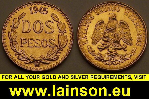 1945 dos pesos gold coin - Gold Coins - Dollar, Eagle