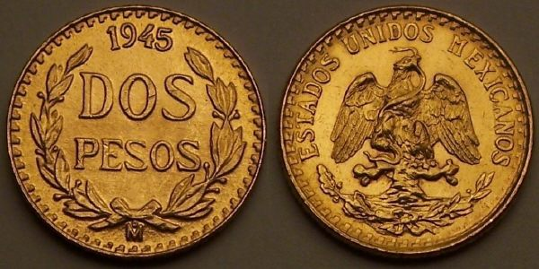 1985 mexican 250 peso gold