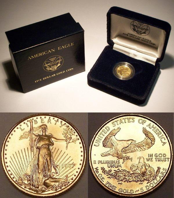 US Gold Eagle coins from www.lainson.eu