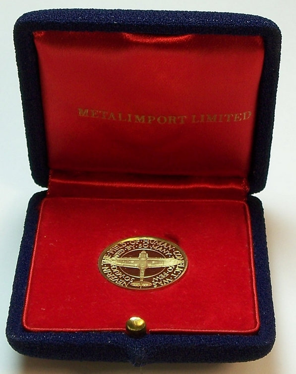 Battle of Britain 25th anniversary gold medal from www.lainson.eu
