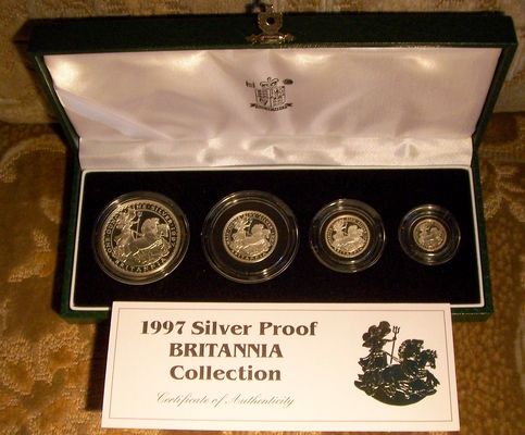 Picture of a Great Britain Britannia silver proof set 1997 from lainson.eu