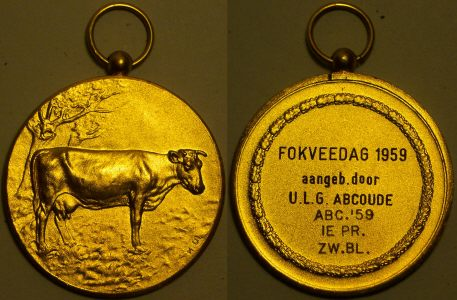 An original Dutch Fokveedag gilded medal from www.lainson.eu