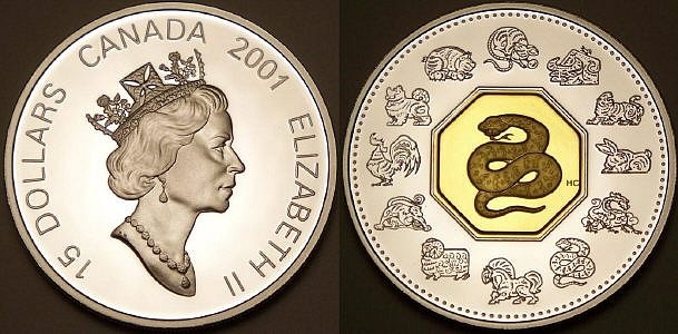 Here is a Canadian lunar snake with gold from www.lainson.eu