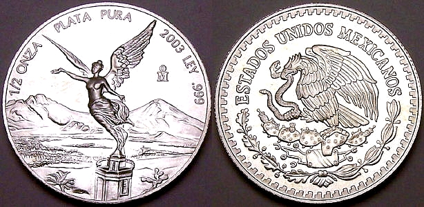 Half ounce silver Mexican Libertads from www.lainson.eu