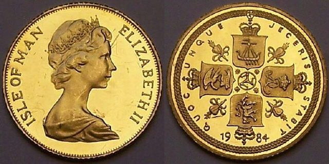 Isle of Man gold half Sovereign 1984 from www.lainson.eu