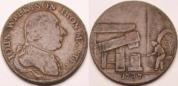An original 1787 John Wilkinson copper token from www.lainson.eu