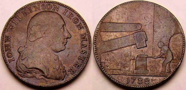An original 1788 John Wilkinson copper token from www.lainson.eu