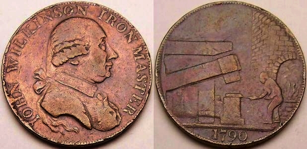 An original 1790 John Wilkinson copper token from www.lainson.eu