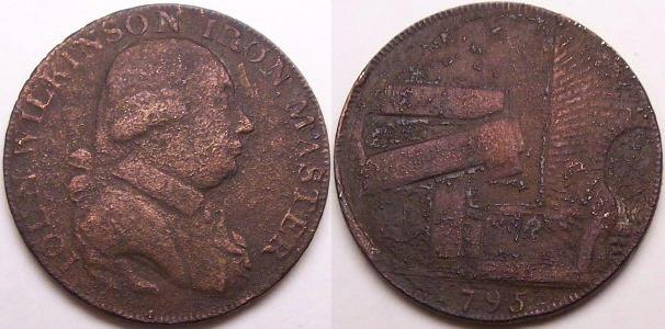 An original 1795 John Wilkinson copper token from www.lainson.eu