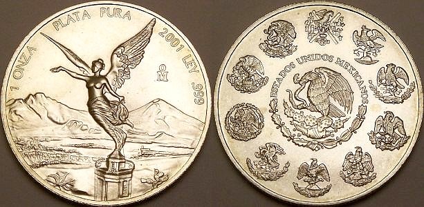 1 ounce silver Mexican Libertads from www.lainson.eu