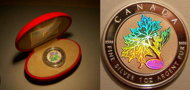 Canadian / Chinese holographic maple from www.lainson.eu