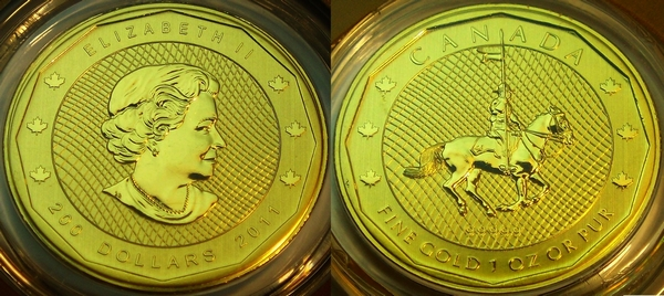 Canadian Mountie 1 oz coin in .99999 gold from www.lainson.eu