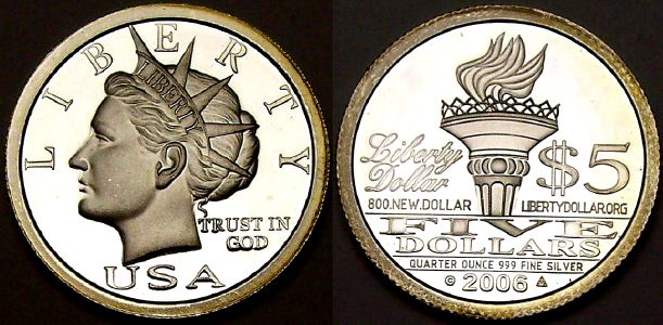 NORFED silver Liberty Dollars from www.lainson.eu