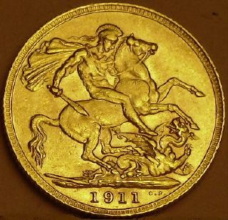 George V gold sovereign 1911 from www.lainson.eu