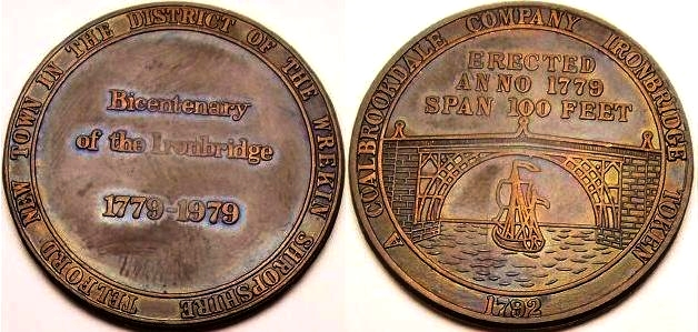 A 1979 TDC commemorative token on the occasion of 200 years of the iron bridge at Coalbrookdale from www.lainson.eu